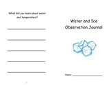 First Grade Science Observation Journal for Water and Ice Unit