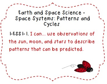 First Grade Science Standards (NGSS) Resources
