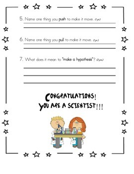 First Grade Science Test: Scientific Method & Physical Science