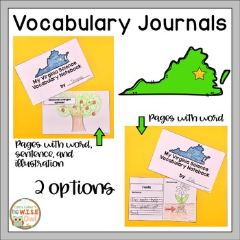 First Grade Science Vocabulary: Virginia SOLs