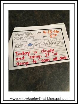 First Grade Science: Weather Journal