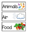 First Grade Science Word Wall Unit 1