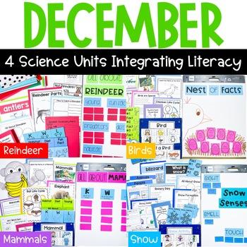 First Grade Science for December: Reindeer, Mammals, Snow, & Birds