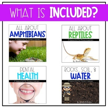 First Grade Science for February: Reptiles, Amphibians, Dental Health, Soil/Rock