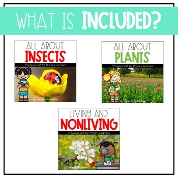 First Grade Science for March: Clouds/Water, Insects, Living/Nonliving, Plants