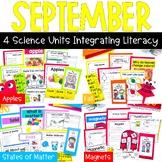 First Grade Science for September: Magnets, Apples, Matter
