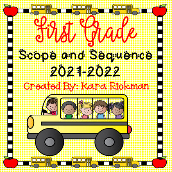 First Grade Scope and Sequence