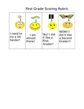 First Grade Scoring Rubric