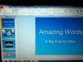First Grade Scott Foresman Amazing Words 2.1 A Big Fish for Max PowerPoint