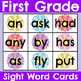 First Grade Seasonal Sight Word Cards Bundle