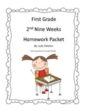 First Grade Second Nine Weeks Homework Packet