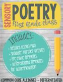 First Grade Sensory Poem Writing - CCSS.ELA-LITERACY.RL.1.4