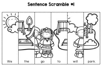 First Grade Sentence Building (Fall Edition)