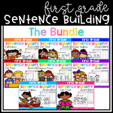 First Grade Sentence Building (THE BUNDLE)