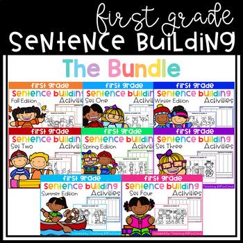 First Grade Sentence Building GROWING BUNDLE
