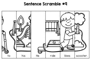 First Grade Sentence Building (Set 1)