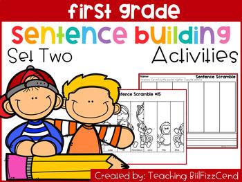 First Grade Sentence Building (Set 2)