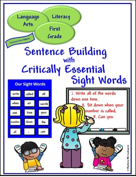 Sight Words for Sentence Building (First)