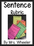 First Grade Sentence Rubric