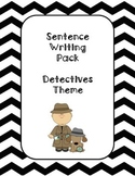 First Grade Sentence Writing Pack- Detective Theme