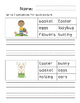 First Grade Sentence Writing Pack- Easter Theme