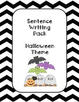 First Grade Sentence Writing Pack- Halloween Theme
