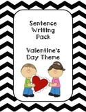 First Grade Sentence Writing Pack- Valentine's Day Theme
