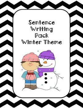 First Grade Sentence Writing Pack- Winter Theme