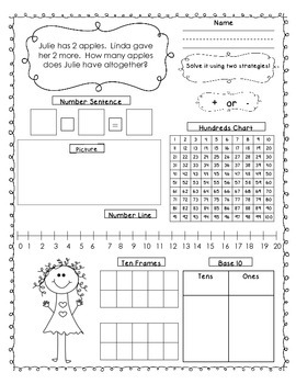 First Grade Joining Result Unknown Word Problems