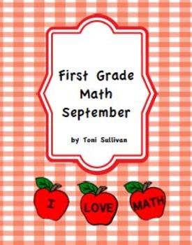 First Grade September Math