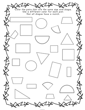 First Grade Shape Activities and Game