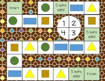 First Grade Shapes Board Game