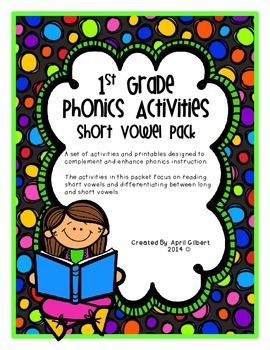 First Grade Short Vowel Pack