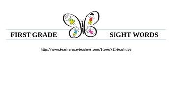 First Grade Sight (Vocabulary Words 150)-Teacher/Student Chart