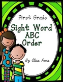 First Grade Sight Word ABC Order Cut and Paste Printables