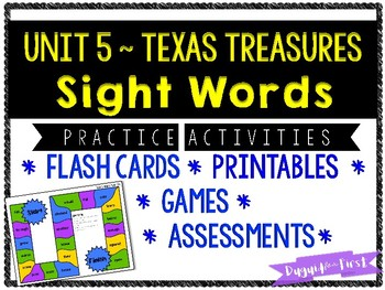 First Grade Sight Word Activities ~ Unit 5 Texas Treasures Aligned