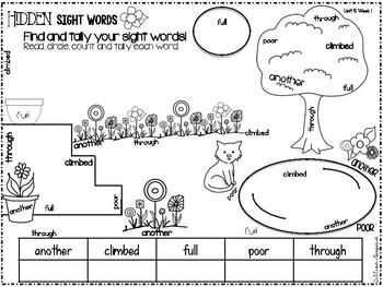 First Grade Sight Word Activities ~ Unit 5 Texas Treasures Aligned