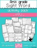 First Grade Sight Word Activity Pack WEEK 1