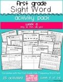First Grade Sight Word Activity Pack WEEK 6