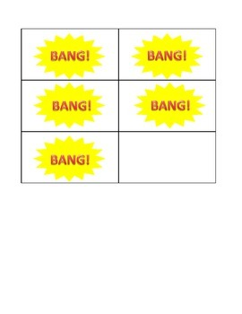 First Grade Sight Word BANG! game