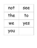 First Grade Sight Word BANG! game