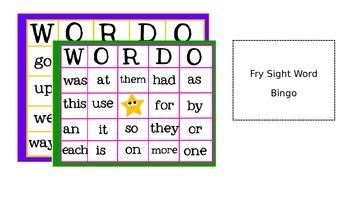 First Grade Sight Word Bingo!