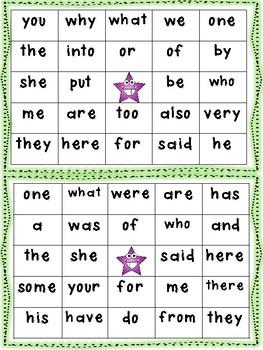 First Grade Sight Word Bingo Volume 1