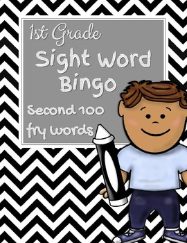 First Grade Sight Word Bingo-Second 100 Fry Words