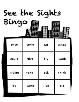 First Grade Sight Word Bingo - Small Group Activity