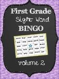 First Grade Sight Word Bingo Volume 2