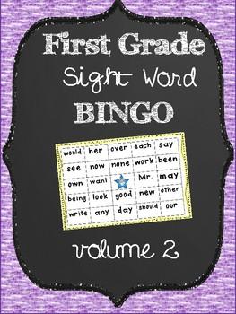 First Grade Sight Word Bingo Volume 2