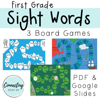 First Grade Sight Word Board Games