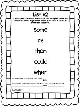 First Grade Sight Word Book (Dolch)
