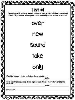 First Grade Sight Word Book (Fry's 2nd 100)